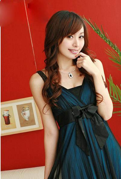 Оптом корейское синее модное платье с